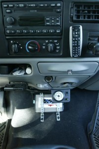 300watt Inverter Mounted on the Floor in the Cab