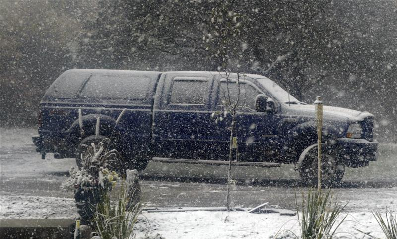 Truck, Ford, F-250, Outside, Snow