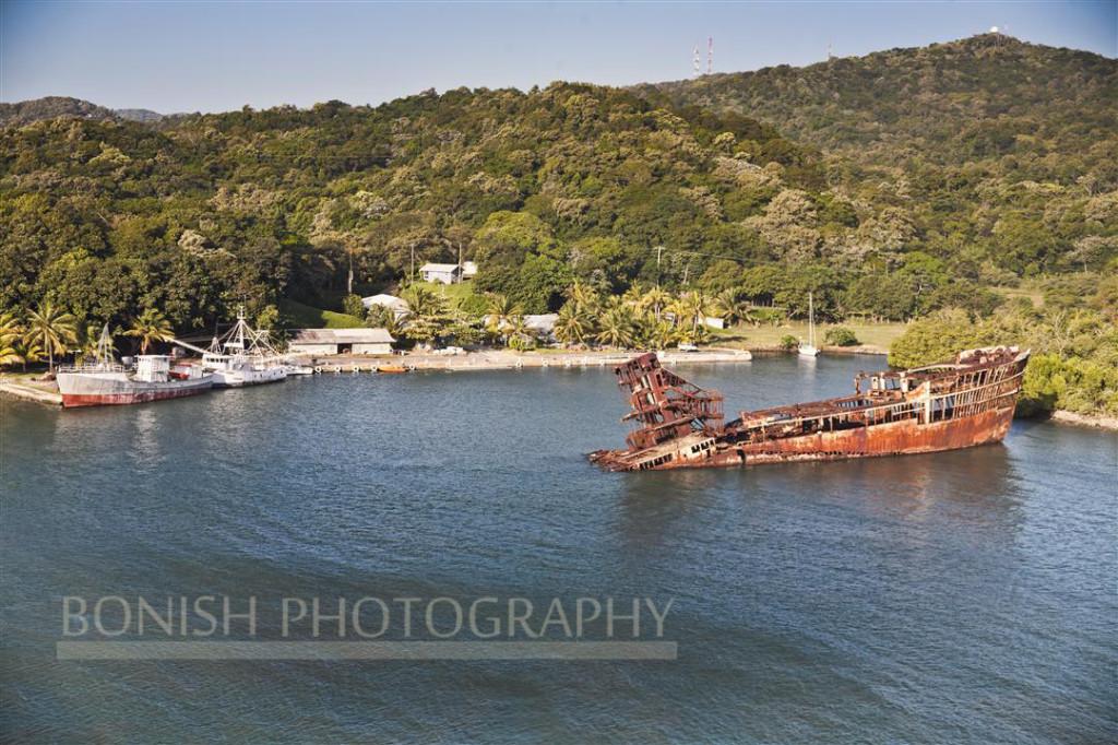 Sunken Ship in the port of Mahogany Bay