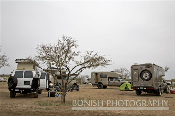 Modern Day Circling Up the Wagons - EXPO Campground 2010
