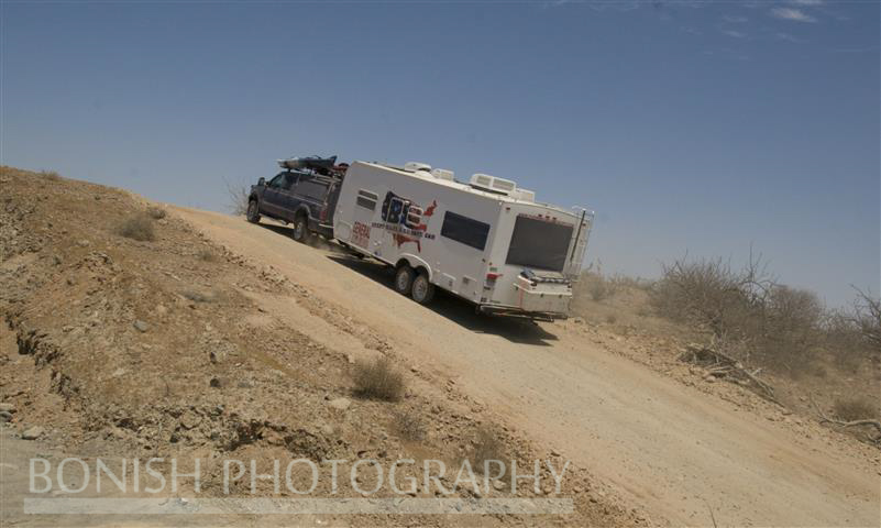 Steep Hills on the Way out of Baja 2008
