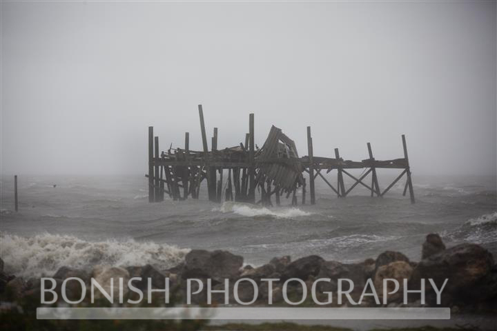 By the end of the day, there wasnt much left of the Honeymoon Shack - Tropical Storm Andrea hits Cedar Key Florida - Photo by Pat Bonish