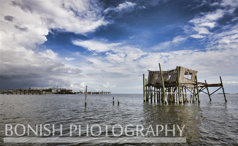 Storm over Dock Street - Cedar Key Florida - Photo by Pat Bonish