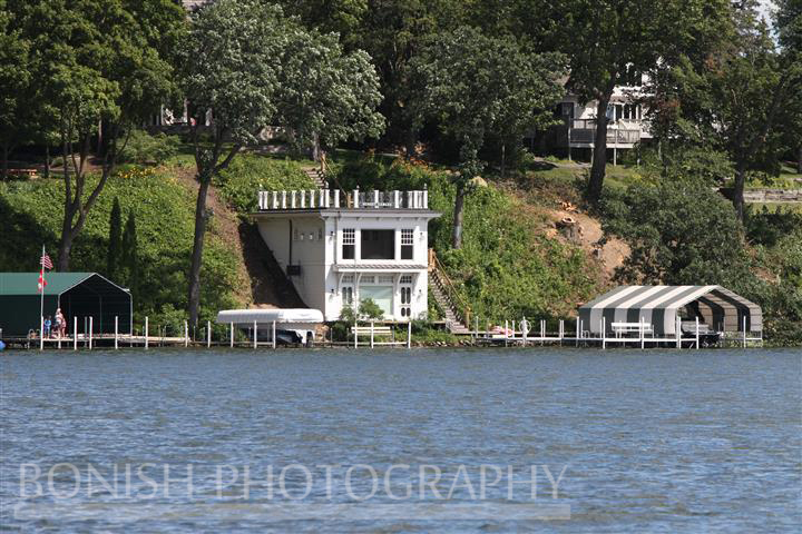 I could handle living in just this boat house overlooking Lake Minnetonka