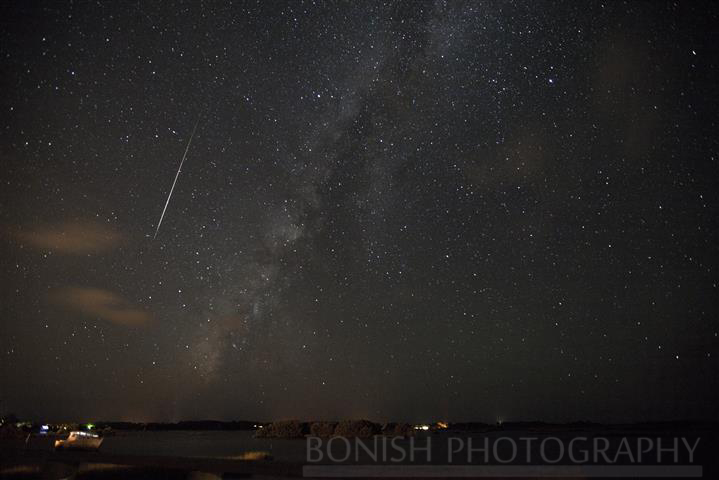 Shooting Stars beside the Milky Way, cedar key, low-key hideaway, pat Bonish photography