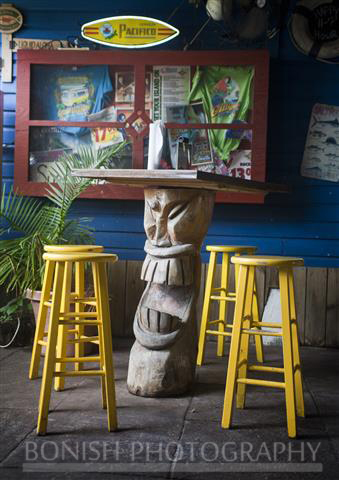 Bonish Photography, Tiki Sculpture, Stools