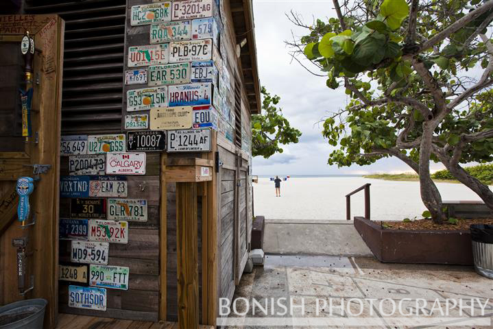 Bonish Photography, Tiki Bar, St Pete Beach, License Plate Art
