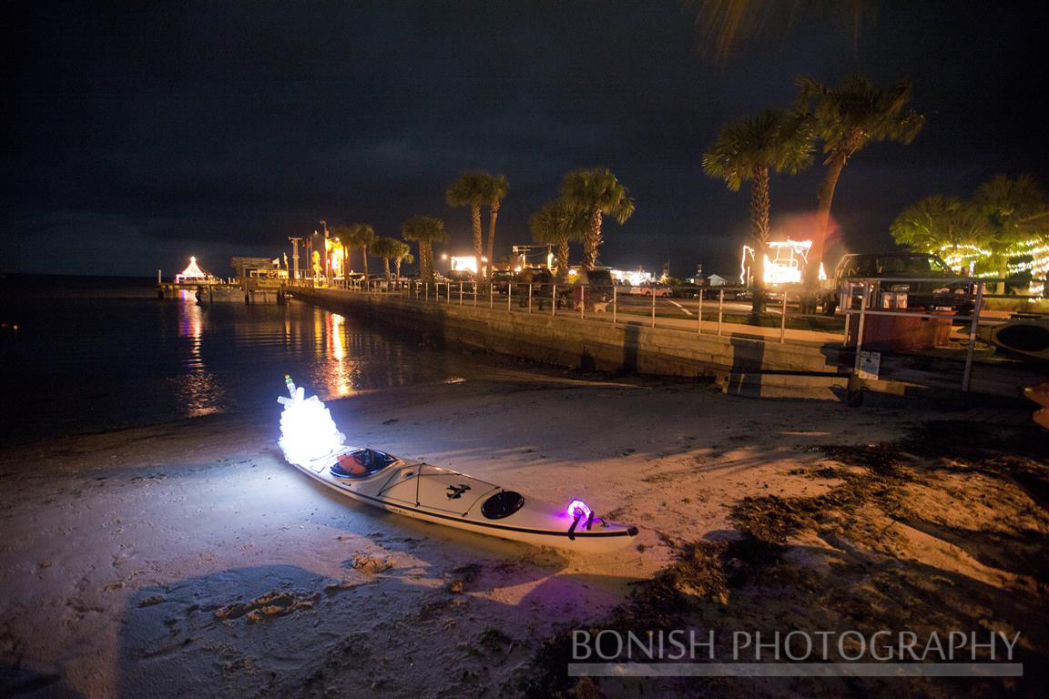 Cedar Key Christmas Boat Parade, Bonish Photography, Kayak, Boating