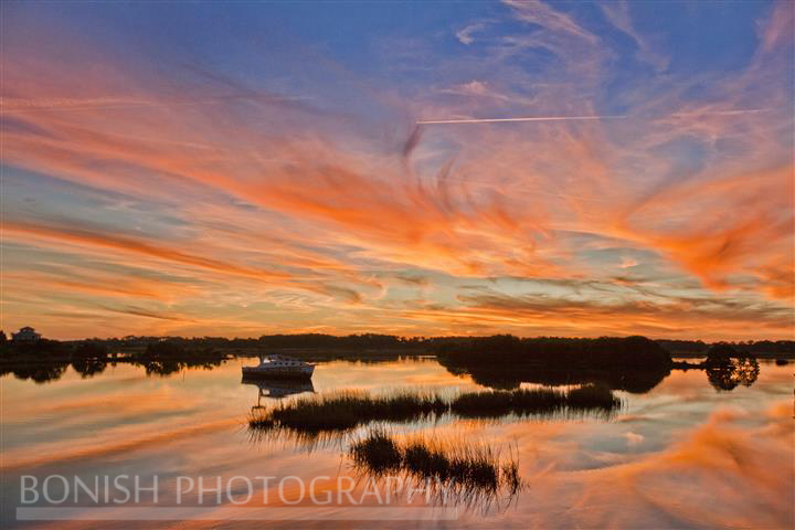 Sunset, Cedar Key, Low-Key Hideaway, Bonish Photography