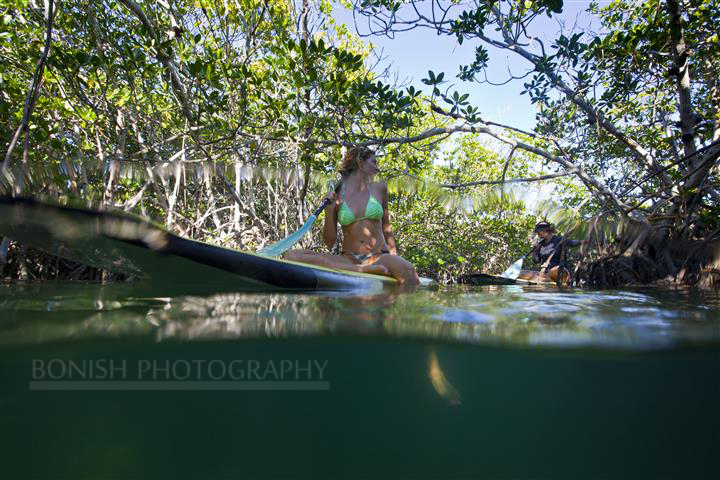 Alexa Mae, SUP, Stand Up Paddle Boarding, Key West, Mellow Ventures, Bonish Photography
