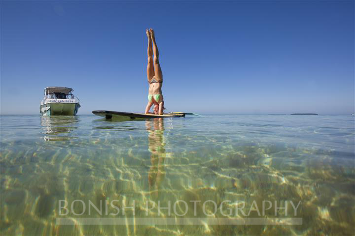 Alexa Mae, SUP Yoga, Stand Up Paddle Boarding, Key West, Mellow Ventures, Bonish Photography