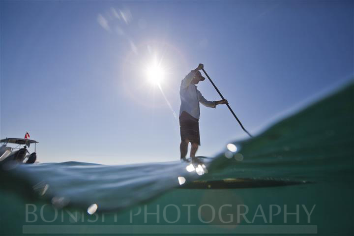 SUP, Stand Up Paddle Boarding, Key West, Mellow Ventures, Bonish Photography, Split Shot, Underwater Photography