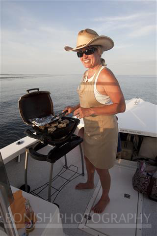 Cindy Bonish, Bonish Photography, Boat Cooking, Weber Grill