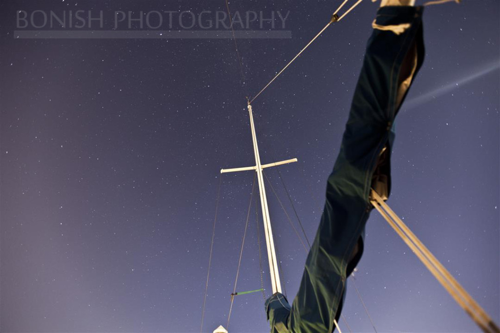 Night Time Photography, Bonish Photography, Sailboat,