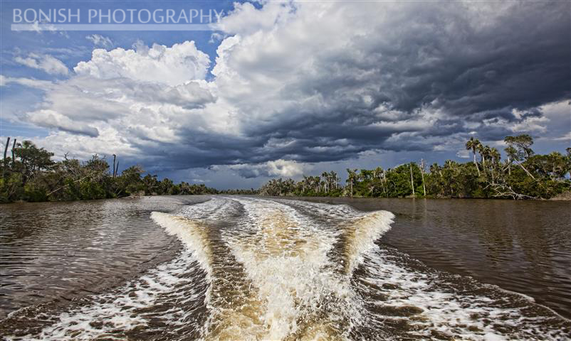 Wacasassa River, Storm Front, Bonish Photography