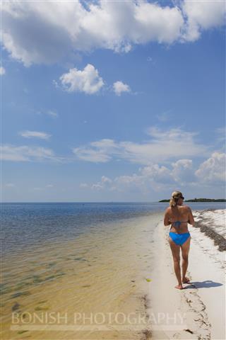 Beach, Bikini, Cindy Bonish, Cedar Key, Gulf of Mexico