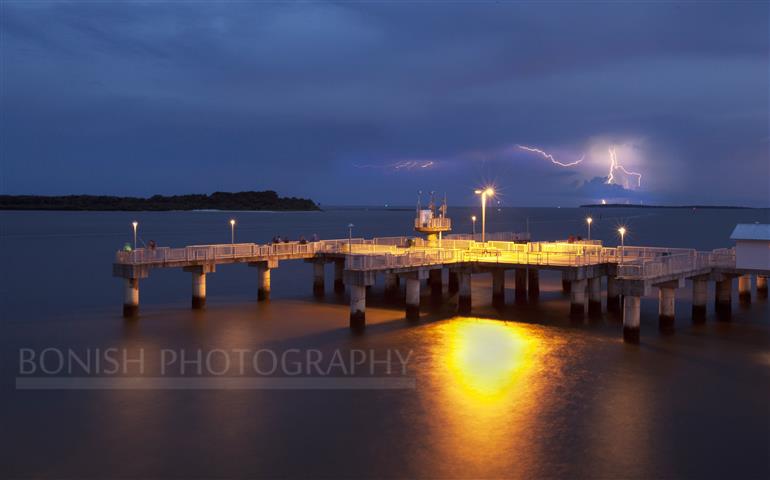 Lightning Storm, Bonish Photography, Cedar Key, Dock, Gulf of Mexico