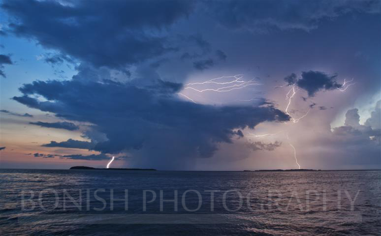 Lightning Storm, Storm Clouds, Gulf of Mexico, Bonish Photography