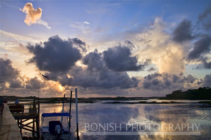 Sunset, Low-Key Hideaway, Bonish Photography, Cedar Key