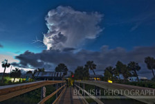 Lightning, Low-Key Hideaway, Storm Clouds, Cedar Key, Bonish Photography