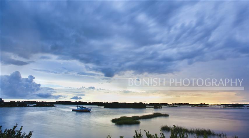 Long Exposure, Sunset, Low-Key Hideaway, Cedar Key, Bonish Photography