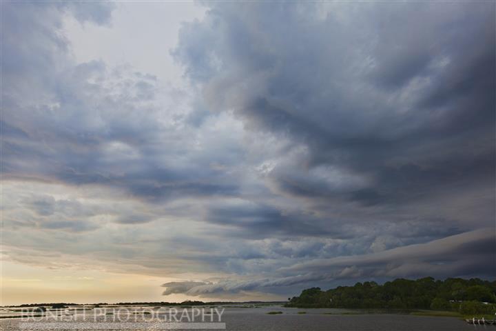 Storm Clouds, Cedar Key, Low-Key Hideaway, Bonish Photography