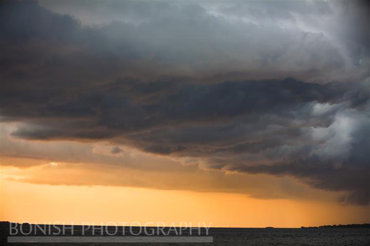 Sunset, Storm Clouds, Gulf of Mexico, Ocean, Bonish Photography