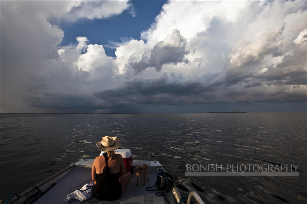 Storm Clouds, Boating, Cedar Key, Bonish Photography