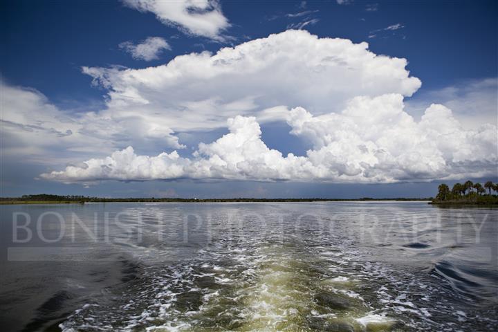 Storm Clouds, Boat Wake, Boating, Bonish Photography