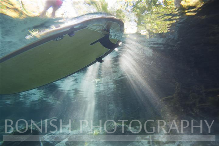 Sun Rays, Underwater Photography, Bonish Photography, SUP, Stand Up Paddle Boarding,