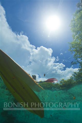 Kayak, Underwater Photography, Bonish Photography, Crystal River, Florida
