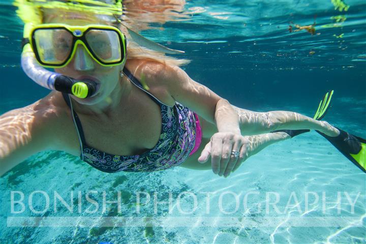 Underwater Selfie, Bonish Photography, Cindy Bonish, Snorkeling