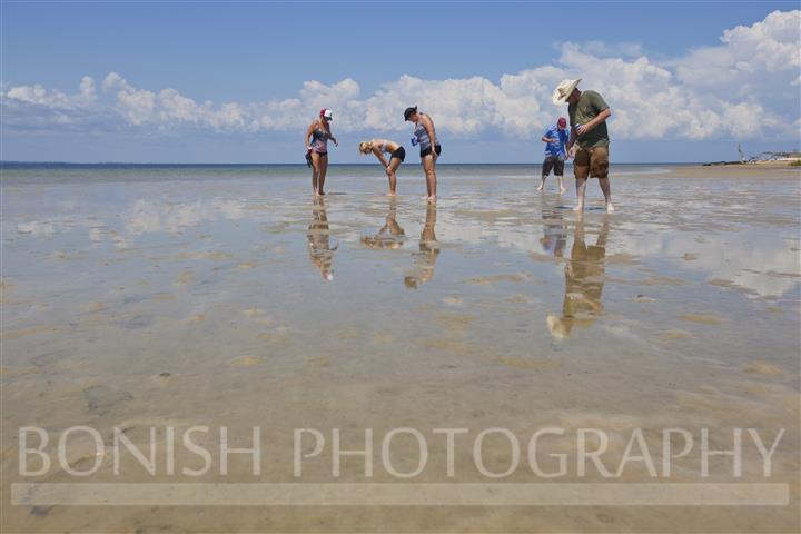 Crabbing, Beach Combing, Sand Bar, Florida, Bonish Photography