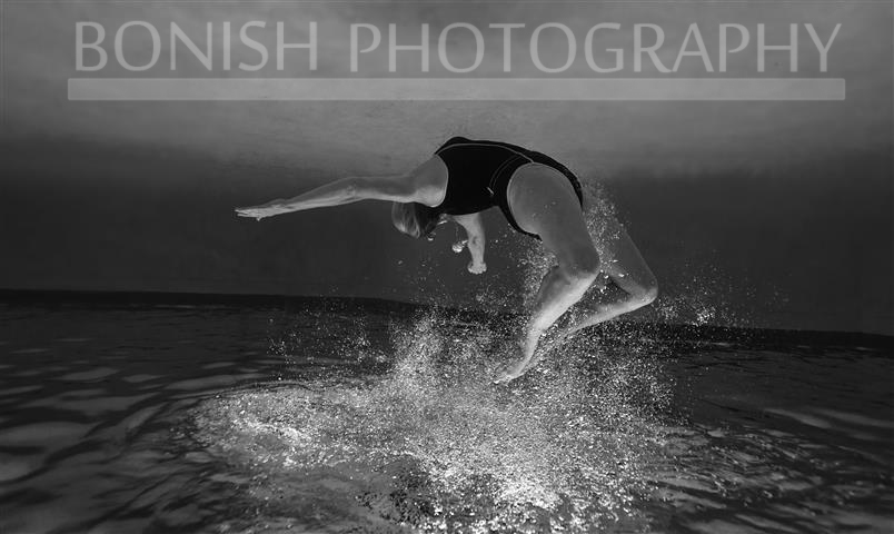 Cindy Bonish, Underwater Photography, Bonish Photo, Swimming, Black and White