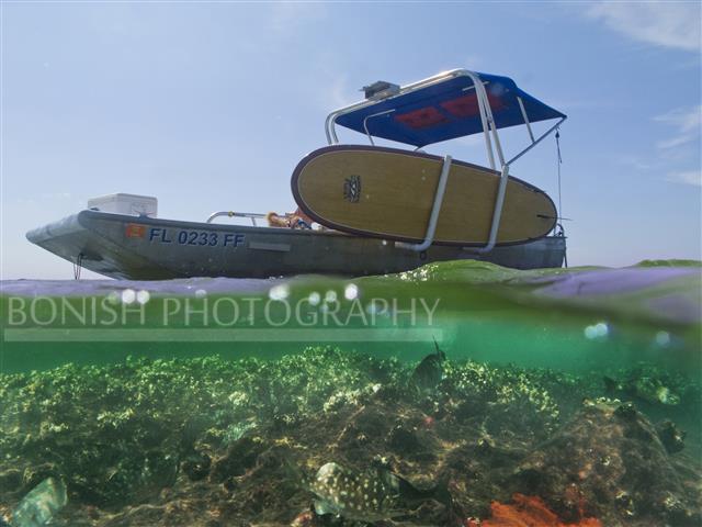 Boating, Split Shot, Underwater Photography, Bonish Photography