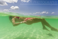 Bonish Photography, Underwater Photography, Split Shot, Bikini, Tropical