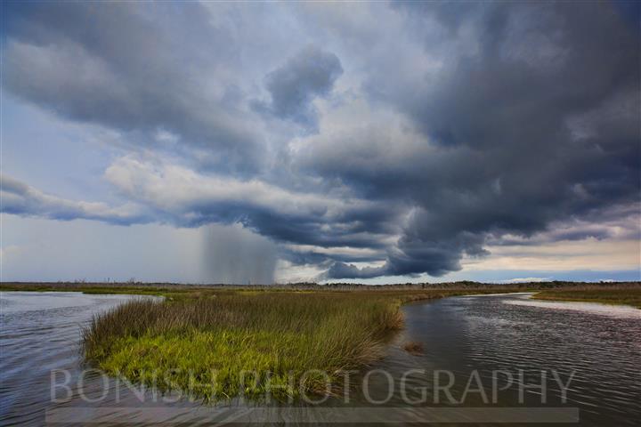 Florida Storms, Salt Marsh, Bonish Photography