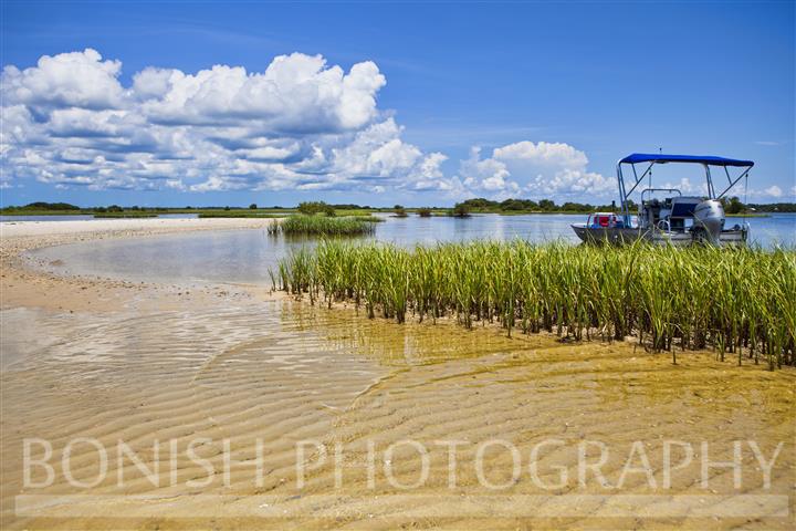 Sandbar, Boating, Cedar Key, Florida, Bonish Photography