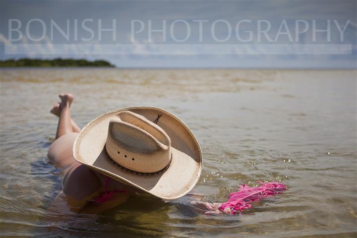 Cowgirl, Bikini, Naked, Bonish Photography, Cindy Bonish