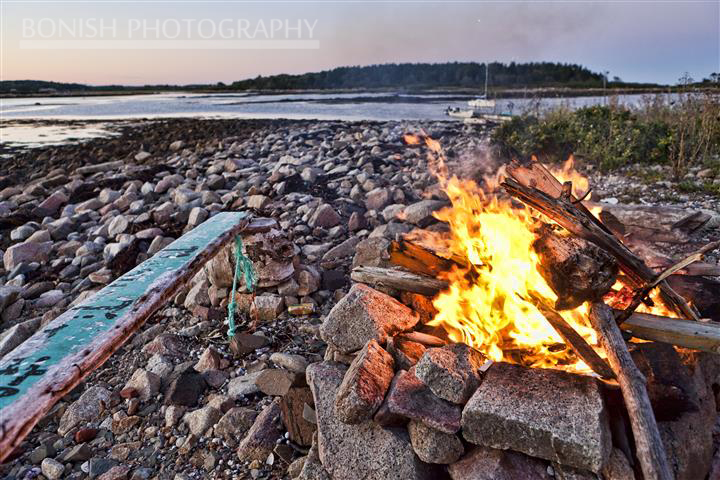 Bon Fire, Maine, Goat Island, Bonish Photo