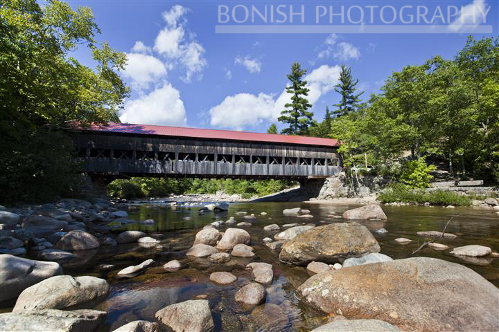 Covered Bridge, New Hampshire, Bonish Photo, White Mountains