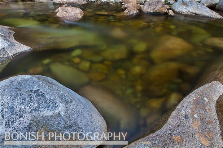 New Hampshire, Flowing Water, Long Exposure, Bonish Photo