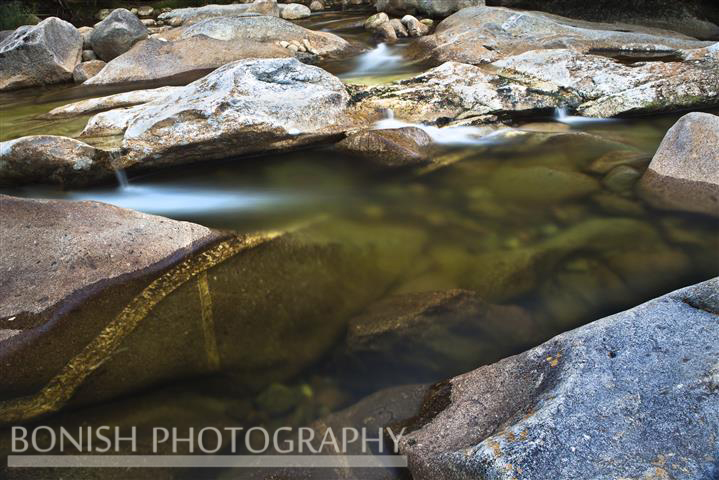 Mountain Stream, Flowing Water, Long Exposure, Bonish Photo