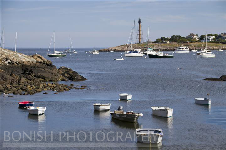 Marblehead Lighthouse, Boats, Bonish Photography, Atlantic Ocean, Massachusetts