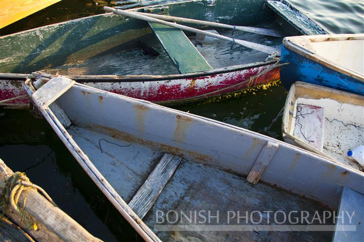Dinghys, Harbor, Dock, Maine, Bonish Photo