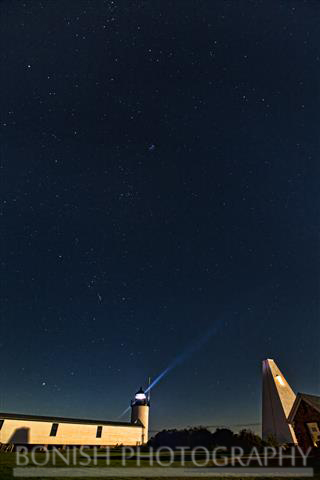 Stars, Milkyway, Goat Island, Light House, Maine, Bonish Photo