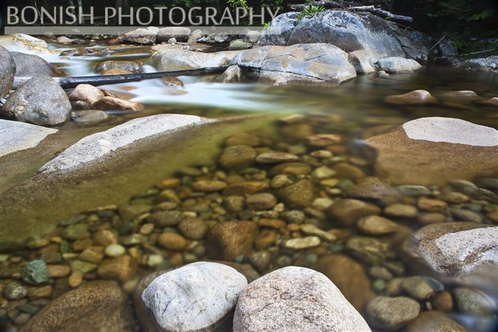 New Hampshire, Mountain Stream, Long Exposure, Bonish Photo