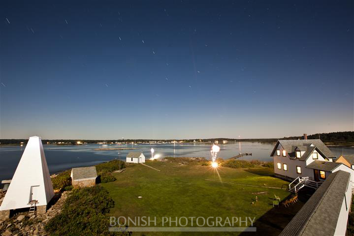 Cape Porpoise Maine, Harbor, Goat island, light House, Bonish photo