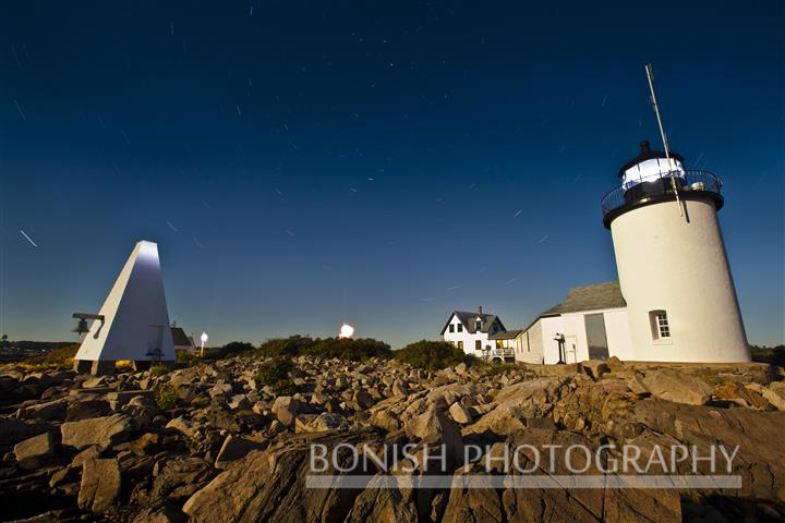 Long Exposure, Goat Island, Light House, Maine, Bonish Photo