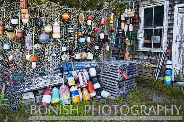 Lobster Bouys, Recycling, Bonish Photo, Rockport